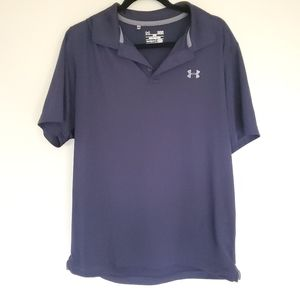 Under Armour loose fit heat gear blue polo L
